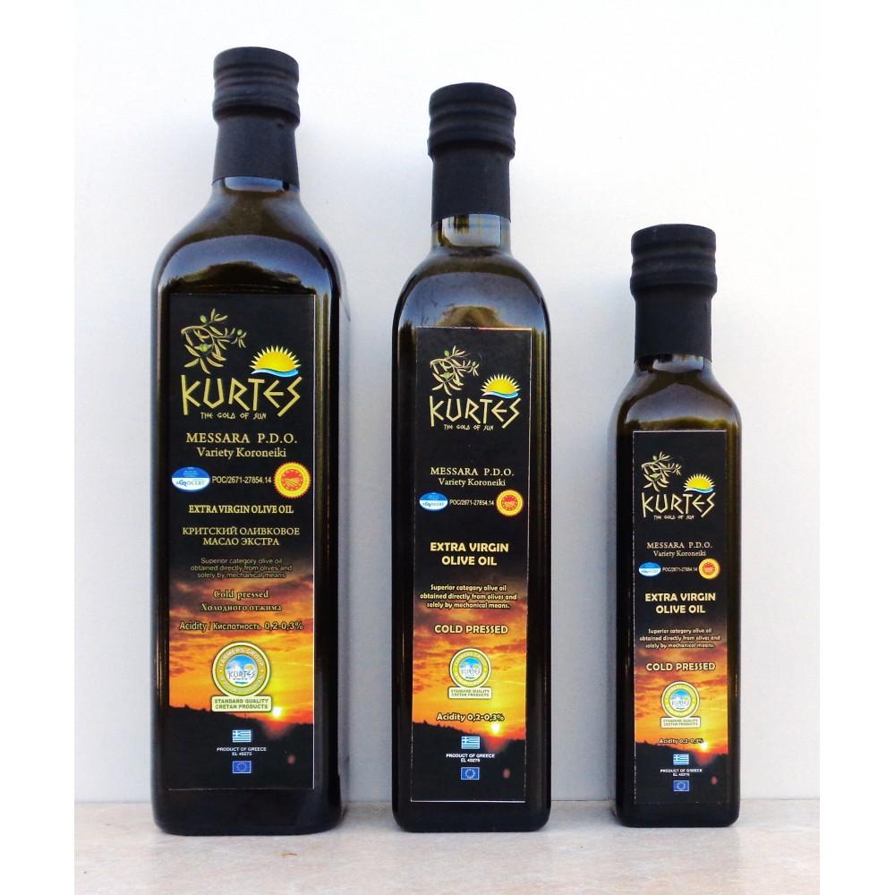 Оливковое масло KURTES Extra virgin PDO 750 мл. - кислотность 0,2-0,3 - доставка в Москву