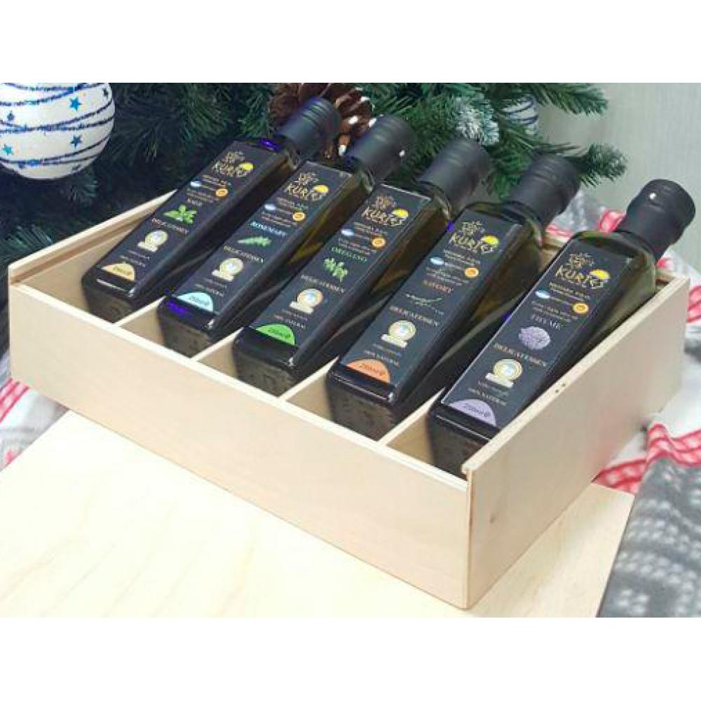 Подарочный набор деликатесных оливковых масел в пенале - доставка в Москву